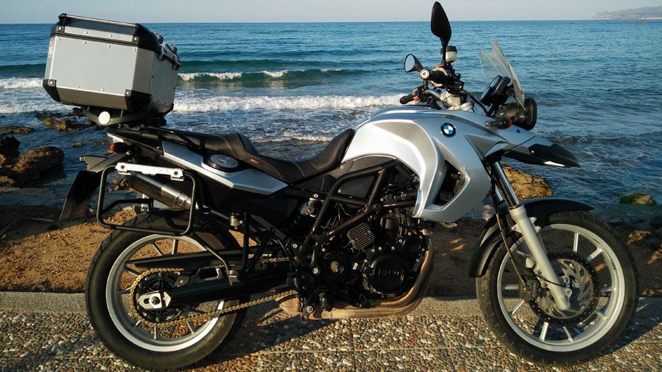 Mietmotorrad Anissaras Beach Motocamp
